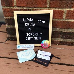 Alpha Delta Pi gift set!! w/ ALEX AND ANI bracelet